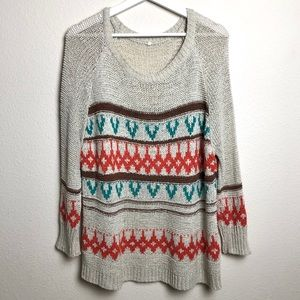 Willow & Clay Open Knit Pattern Sweater
